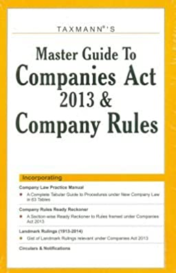 buy master guide to companies act 2013 and company rules book online rh amazon in Singapore Companies Act Companies Act 2013