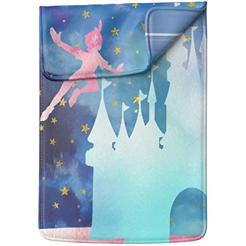 (Lex Altern Tablet Sleeve Case for iPad Pro 12.9 11 10.5 9.7 inch Mini 5 4 3 2 1 Air 2 2019 2018 2017 5th 6th 3rd Gen Castle Tinkerbell Peter Pan Cartoon Blue Star Leather Cover Carrying Print Design)