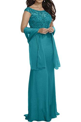 Meerjungfrau mia Tuerkis La Braut Bodenlang Ballkleider Hochwertig Violett Partykleider Spitze Langes Abendkleider PIAd1qA
