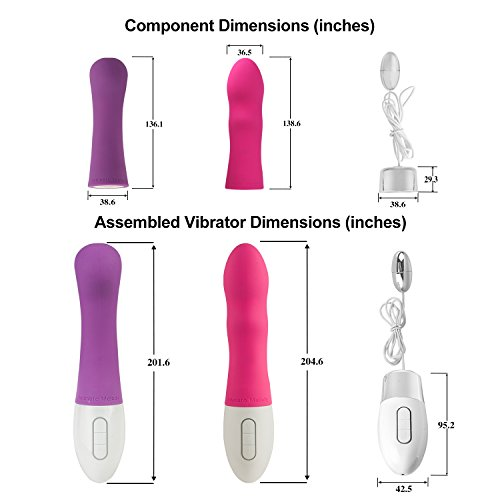 Intimate Melody® Silicone Waterproof Powerful Vibrator - Lava 3 in 1, Rechargeable Vibrator with Multi Modes (Set of 3)