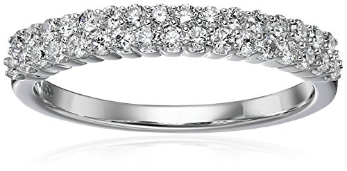14k White Gold Diamond 2 Row Anniversary Ring (1/2cttw, H I Color, I1 I2 Clarity)