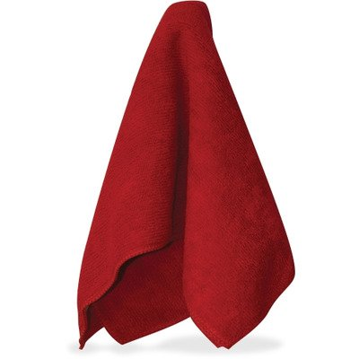 Impact Products LKF500 Economy Microfiber Cleaning Cloths - General Purpose Cloth, Red