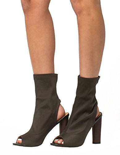 CAPE ROBBIN Peep Womens Boots