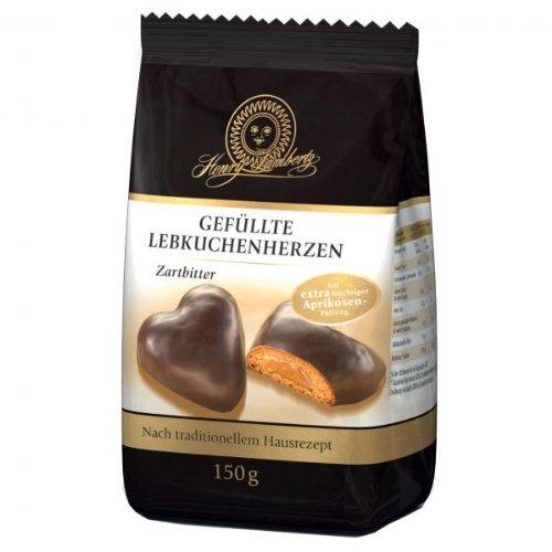 Lambertz Filled Lebkuchen Hearts Dark Chocolate 5.29