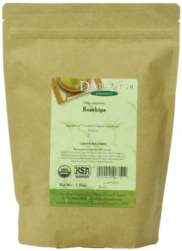 Davidson's Tea Bulk, Organic Rosehips, 16-Ounce Bag (Rose Hips Tea Bags)