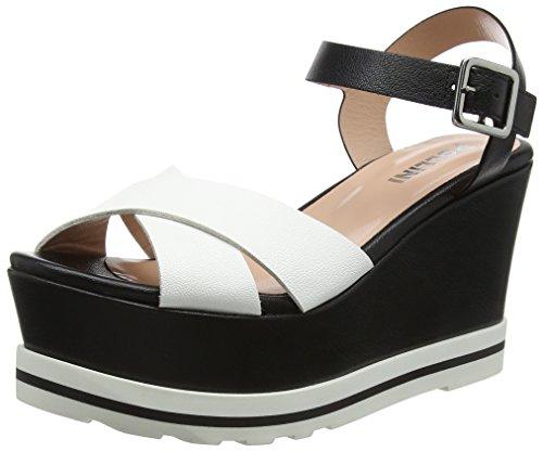 nero W bianco Multicolore Caviglia Con sandal 10a Cinturino Donna Alla Pollini Sandali Sfqv6xqwO