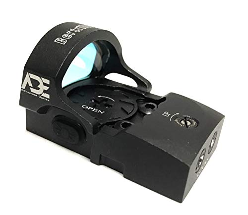 Ade Advanced Optics rd3-013 4MOA Red Dot Micro Mini Reflex Sight with 30000 Battery Life for Glock MOS 17 19 34 35 40 41 Pistol Handgun (Best Affordable Reflex Sight)
