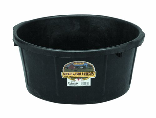 LITTLE GIANT 6.5 Gallon Rubber All-Purpose Tub