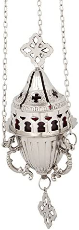 Hanging Nickel Plated Christian Vigil Lamp 137 N