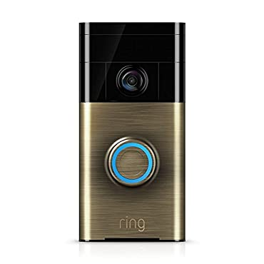 Ring Wi-Fi Enabled Video Doorbell, Antique Brass (88RG003FC000)