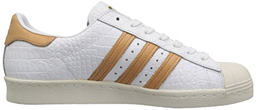 Adidas Originals Hombres Superstar 80s Ftwwht, Ftwwht, Goldmt