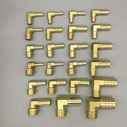no logo Brass Hose Barb Fitting Elbow 6mm 8mm 10mm 12mm 16mm to 1//4 1//8 1//2 3//8 BSP Male Thread Barbed Coupling Connector Joint Adapter Size : 19mm Barb, Thread Specification : 1//2