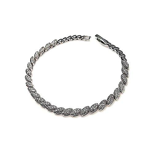 Ensemble de bijoux Loi 925m argent collier boucles d'oreilles cubiques pierres zircone [AB0870]