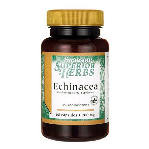 Swanson Echinacea (Standardized) 200 Milligrams 60 Capsules