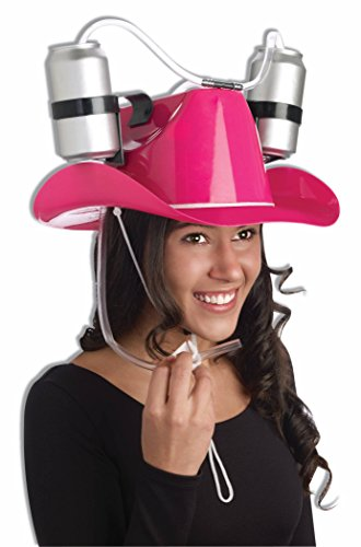 Forum Novelties pink Cowgirl Drinking Hat for $<!--$13.99-->
