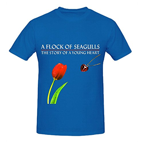 A Flock Of Seagulls The Story Young Heart Pop Mens Short Sleeve T Shirts Blue