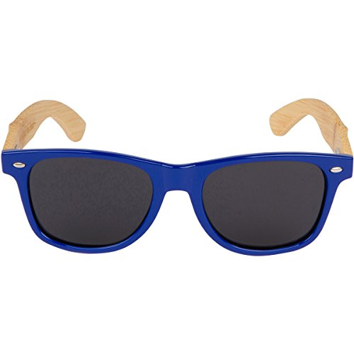 66c2e71347 WOODIES Bamboo Wood Sunglasses with Blue Plastic Frames - Buy Online in  Oman.