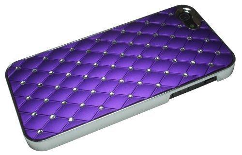 Avcibase 4260310648637 Glitzer Strass Bling harte Schutzhülle für Apple iPhone 5 lila