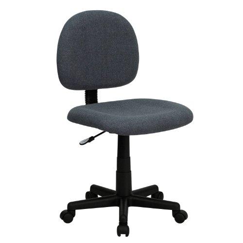 Thornton's Office Supply Low Back Ergonomic Gray Fabric Swivel Task Chair price