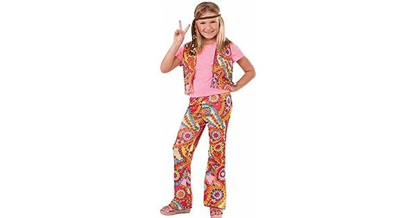 Amazon.com: Disfraz de niña hippie de los años 60, talla ...