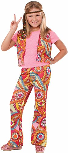 Girls Hippie Girl Costumes (Forum Novelties 60's Hippie Girl Child Costume, Large)