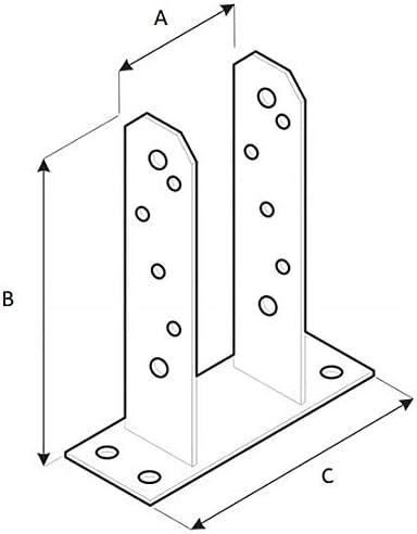 90 mm tornillo para poste de valla manga de acero manga deslizante Soporte para poste de valla galvanizado ADGO/® TT color plateado