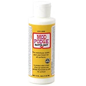 Mod Podge Waterbase Sealer, Glue and Finish (4-Ounce), CS11305 Matte Finish