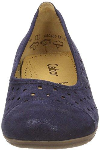 Woman Gabor Casual night Blue Ballerinas Shoes twnR6wxqSZ