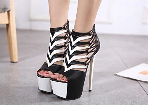 Donna Impermeabili Heel Caviglia Alta Donna Donna Peep Scarpe Pompe Scarpe Piattaforme Scarpe Sandali Uomo Strap Scarpe 36 qualit Scarpe Sandali Bocca Scarpe Pumps 6xFH7wxz