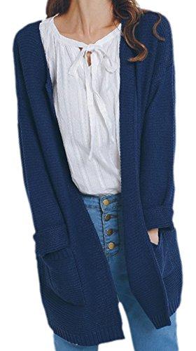 erdbeerloft - Cárdigan - Opaco - para mujer Azul