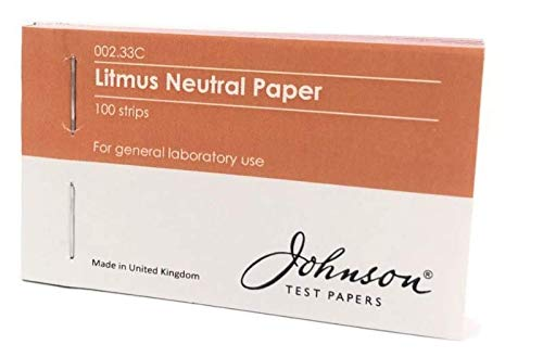 Litmus Neutral Indicator Paper, 4 x 25 per pack Johnson Test Papers