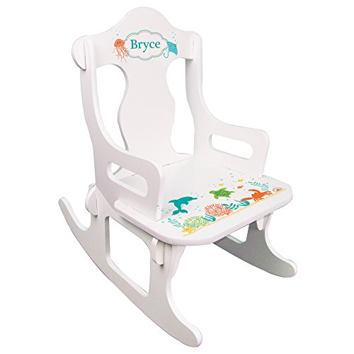 Sea Rocking Chair - Personalized Child's Sea Life Puzzle Rocking Chair