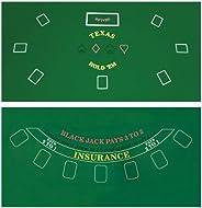 DA VINCI 2-Sided 36x72-Inch Texas Hold'em and Blackjack Casino Felt La