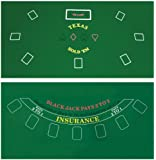 Da Vinci 2-Sided 36-Inch x 72-Inch Texas Holdem & Blackjack Casino Felt Layout