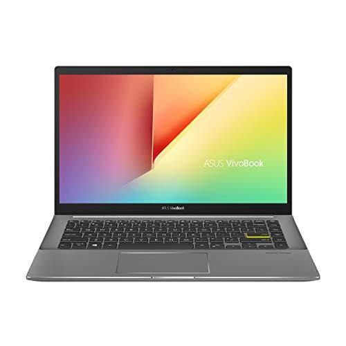 ASUS VivoBook S14 M433IA-EB069 – Ordenador portátil de 14″ FullHD (Ryzen7-4700U, 16GB RAM, 512GB SSD, Radeon Graphics, Sin sistema operativo) Negro – Teclado QWERTY Español