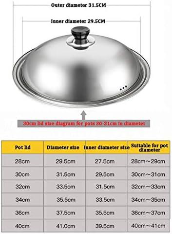 Couvercle en acier inoxydable Pan Couvercle en verre trempé Wok Couvercle cuisine de grande taille remplacement Pot Couvercles (Size : 36cm)