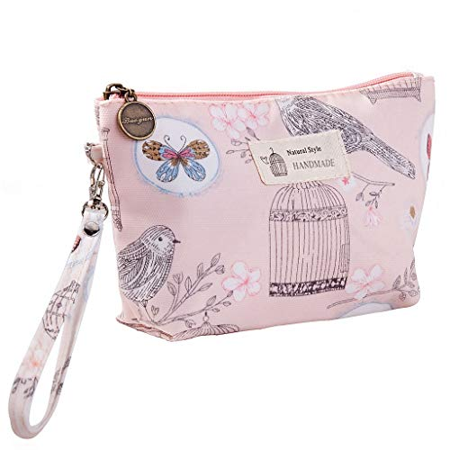 Succper Womens Makeup Bag Large Capacity Cosmetic Bag Pouch Purse Handbag with Zipper Portable Waterproof Travel Makeup Bag Cosmetic Case Organizer Portable (B)