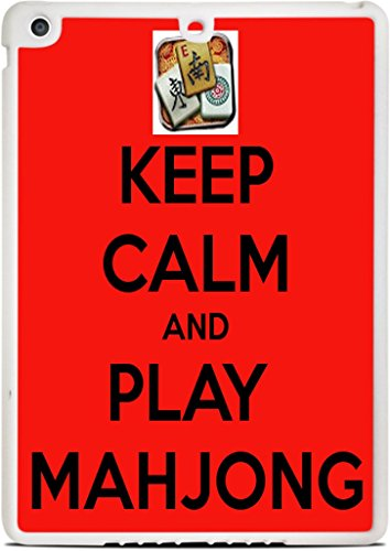Keep Calm and Play Mahjong White iPad Air Silicone Case by Debbie's Designs