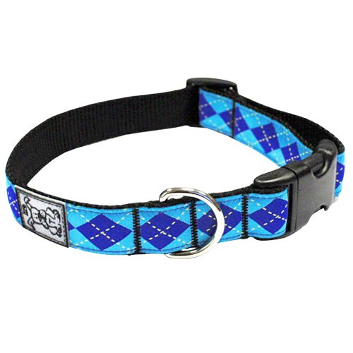Adjustable Dog Clip Collar - RC Pet Products 1-Inch Adjustable Dog Clip Collar, 12-20-Inch, Medium, Preppy