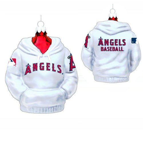MLB Los Angeles Angels Baseball Hoodie Glass  Ornaments 4.5