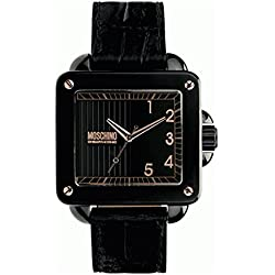 Moschino Mens Unit Square Analog Dress Quartz Watch NWT MW0275