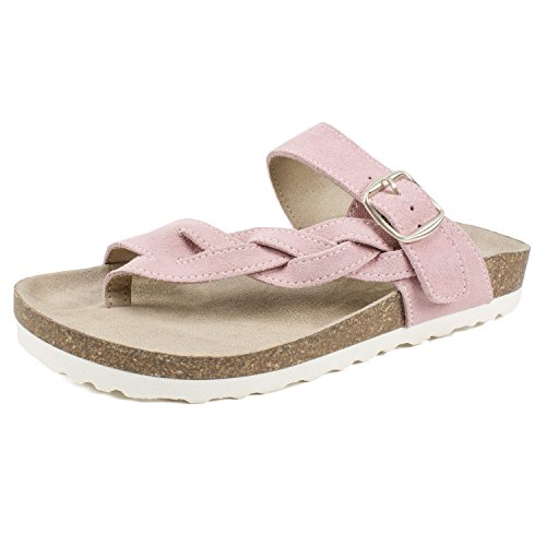 WHITE MOUNTAIN Shoes Crawford Women's Sandal, Pink/Suede, 8 (Pink White Sandals)