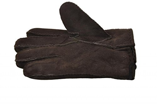 Tanforan Cypress Men's Winter Sheepskin Lambskin Gloves w Fur Lining M Dark Brown