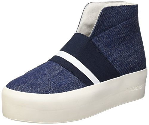 Bikkembergs Pow-Er 603 M.Shoe W Denim/Elastic, Scarpe a Collo Alto Donna blu