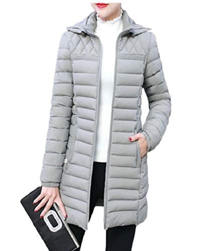 Water Jackets Quilted Gery Hooded Womens Puffer Coat security Lightweight xvp0EnEU