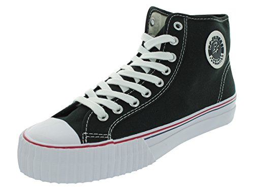 PF Flyers Mens Center Hi Fabric Fashion Sneaker Black l7qvAxFBj