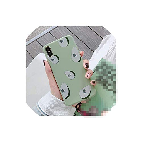 (Summer Fruits Avocado Persimmon Phone Case for iPhone X XS XR XS Max 6 6S 7 8 Plus Green Soft TPU Back Cover Couples Gift,Style 1,for iPhone 8 Plus,Style1,for iPhone7Plus)