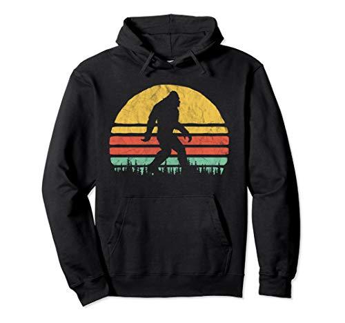 Retro Bigfoot Hipster Vintage Vibe Hoodie (Retro Hipster)