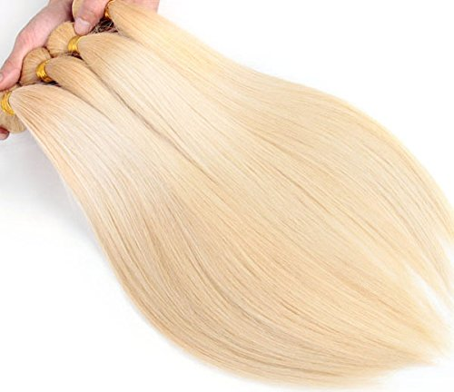 Brazilian Blonde Straight Extensions Human product image