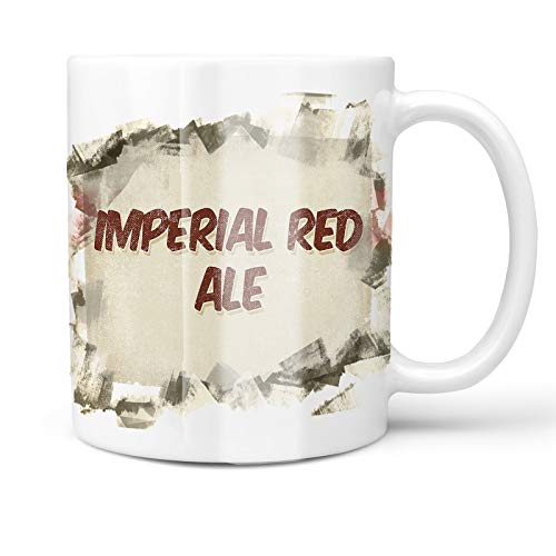 Neonblond 11oz Coffee Mug Imperial Red Ale Beer, Vintage style with your Custom Name